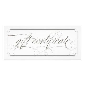 Certificat-primes élégants gris français de cartes doubles