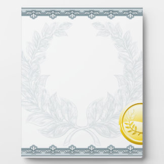 Certificate Diploma Background Template Plaque