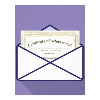 Certificate in Envelope Vector Letterhead Design