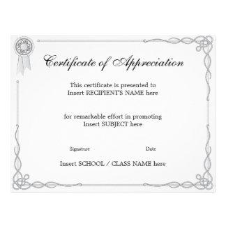 CERTIFICATE OF APPRECIATION FULL COLOR FLYER