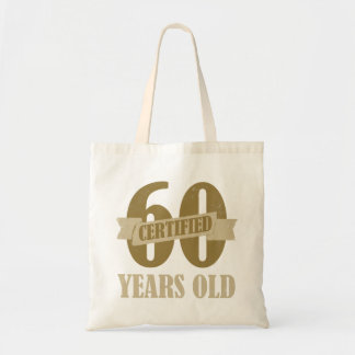 Certified 60th Birthday Gag Gifts Tote Bag