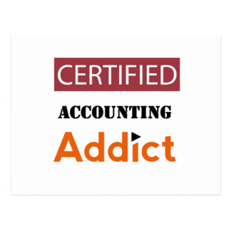 Certified Accounting Addict Postcard