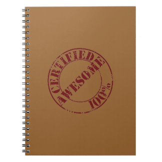 Certified Awesome Notebook