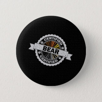 Certified Bear Stamp 2 Inch Round Button