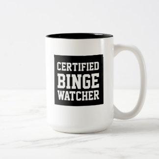 Certified binge watcher funny mug