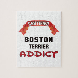 Certified Boston Terrier Addict Jigsaw Puzzle