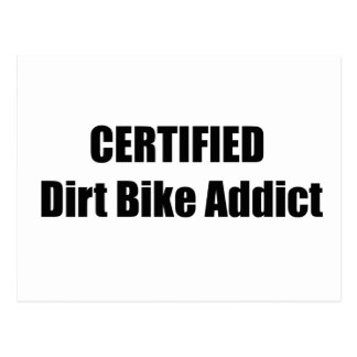 Certified Dirt Bike Addict Postcards