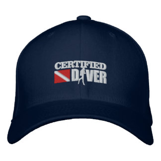 Certified Diver 2 Embroidered Caps