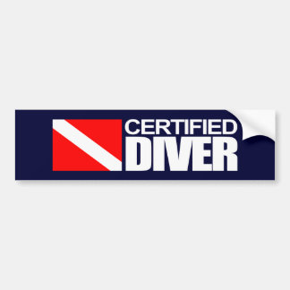 Certified Diver 4 Bumpersticker Bumper Sticker