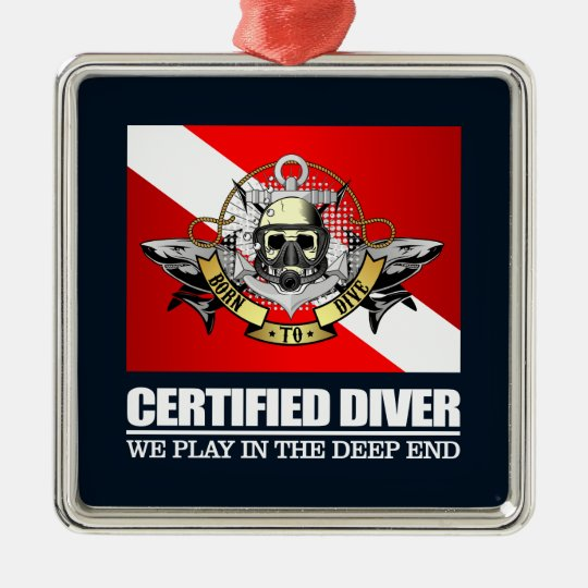 Certified Diver (BDT)2 Metal Ornament