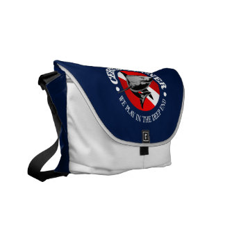 Certified Diver (Shark) Courier Bags