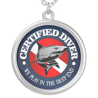 Certified Diver (Shark) Silver Plated Necklace
