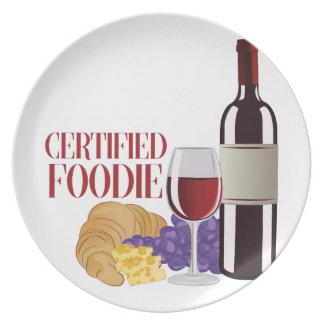 Certified Foodie Dinner Plate