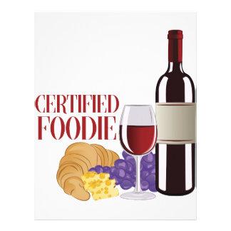 Certified Foodie Letterhead