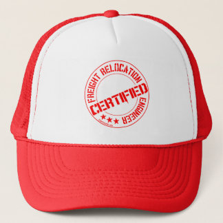 Certified Freight Relocation Engineer Red Mesh Cap