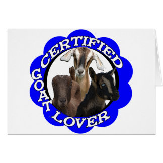 CERTIFIED GOAT LOVER! CARD
