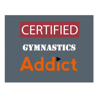 Certified Gymnastics Addict Postcard