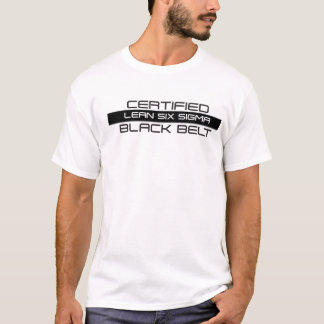 Certified Lean Six Sigma Black Belt White Tee