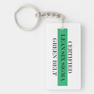 Certified Lean Six Sigma Green Belt Key Chain
