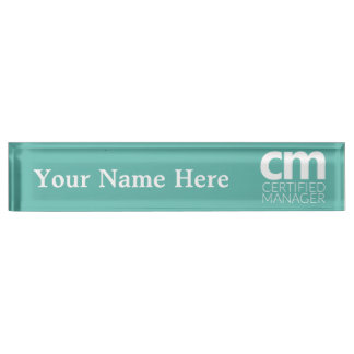 Certified Manager Desk Nameplate