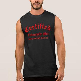 Certified Motorcycle pilot Sleeveless Shirt