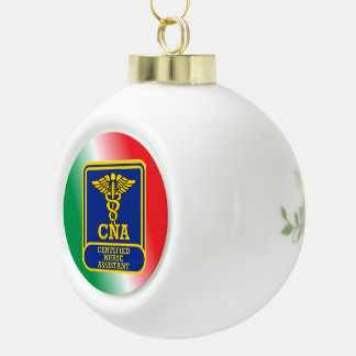 Certified Nurse Assistant Ceramic Ball Christmas Ornament