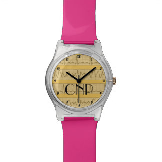 Certified Nurse Practitioner Watch Yellow Pink