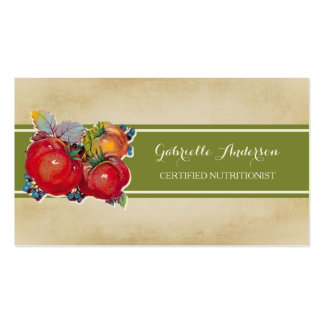 Certified Nutritionist Whole Food Wellness QR Code Business Card