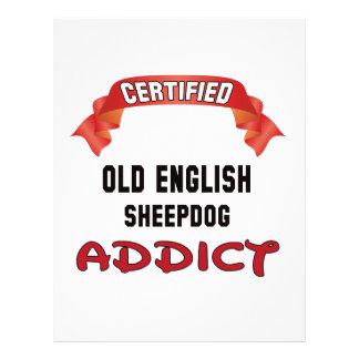 Certified Old English Sheepdog Addict Custom Letterhead