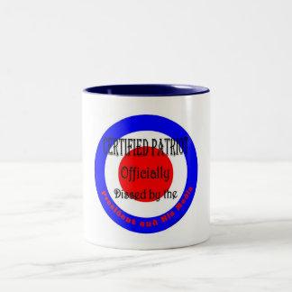 certified patriot Two-Tone coffee mug