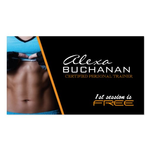 Certified personal trainer business card zazzle for Sample personal trainer business cards