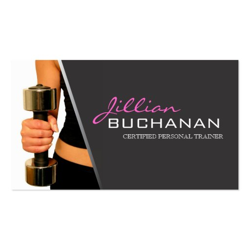 Certified personal trainer business cards zazzle for Business cards for personal trainers
