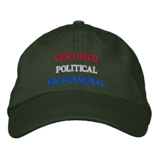 Certified Political Professional Embroidered Hats