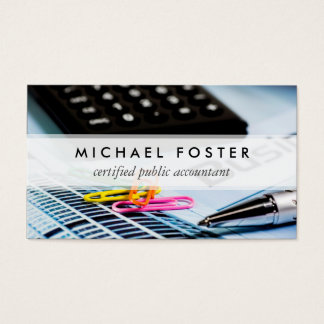 Certified Public Accountant Simple Minimal Elegant Business Card