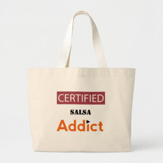 Certified Salsa Addict Large Tote Bag