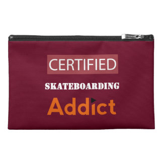 Certified Skateboarding Addict Travel Accessory Bags