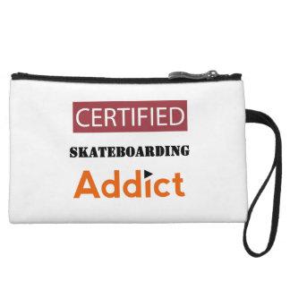 Certified Skateboarding Addict Wristlet Purses
