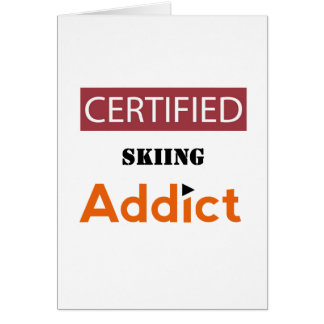 Certified Skiing Addict Card