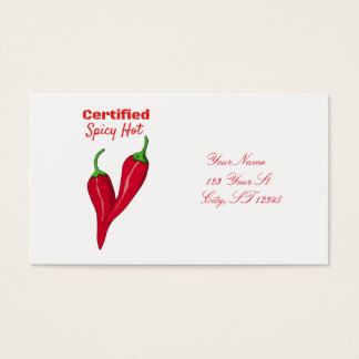 Certified Spicy Thunder_Cove Business Card