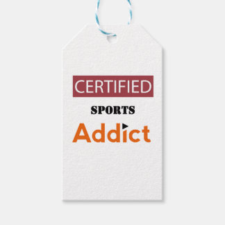 Certified Sports Addict Pack Of Gift Tags