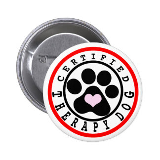 Certified Therapy Dog 2 Inch Round Button
