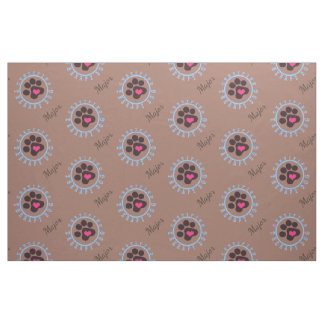 Certified Therapy Dog Brown Paw Fabric