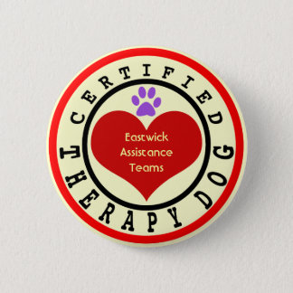 Certified Therapy Dog Organization 2 Inch Round Button