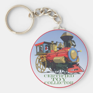 Certified Toy Collector Basic Round Button Keychain
