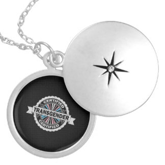 Certified Transgender Stamp Silver Plated Necklace