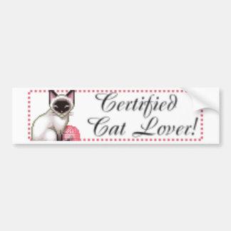 certifiedcat bumper sticker