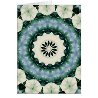 Cerulean Blue and Sacramento Green Mandala Card
