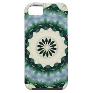 Cerulean Blue and Sacramento Green Mandala Case For The iPhone 5