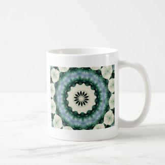 Cerulean Blue and Sacramento Green Mandala Coffee Mug