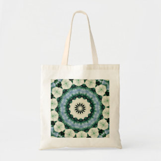 Cerulean Blue and Sacramento Green Mandala Tote Bag